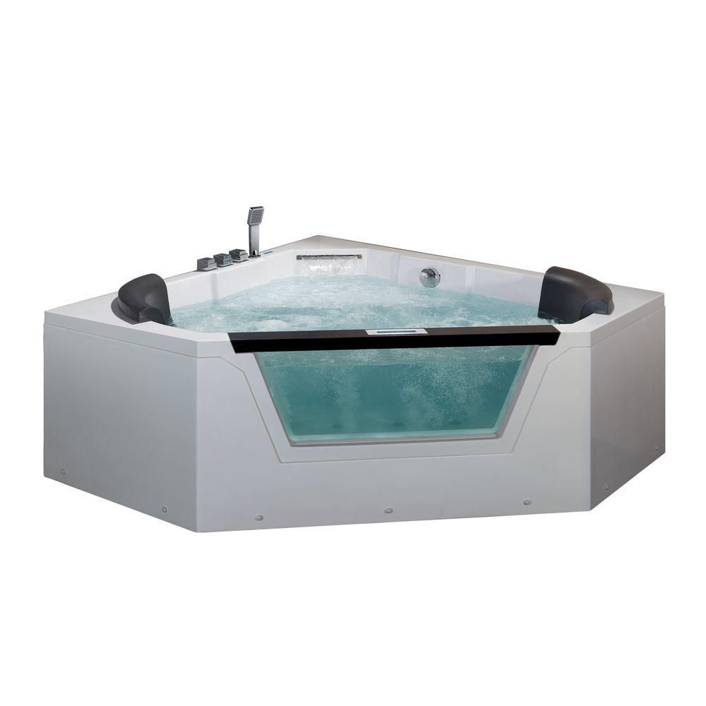 Ariel 5 ft. Whirlpool Tub in White-AM156JDTSZ - The Home Depot ...