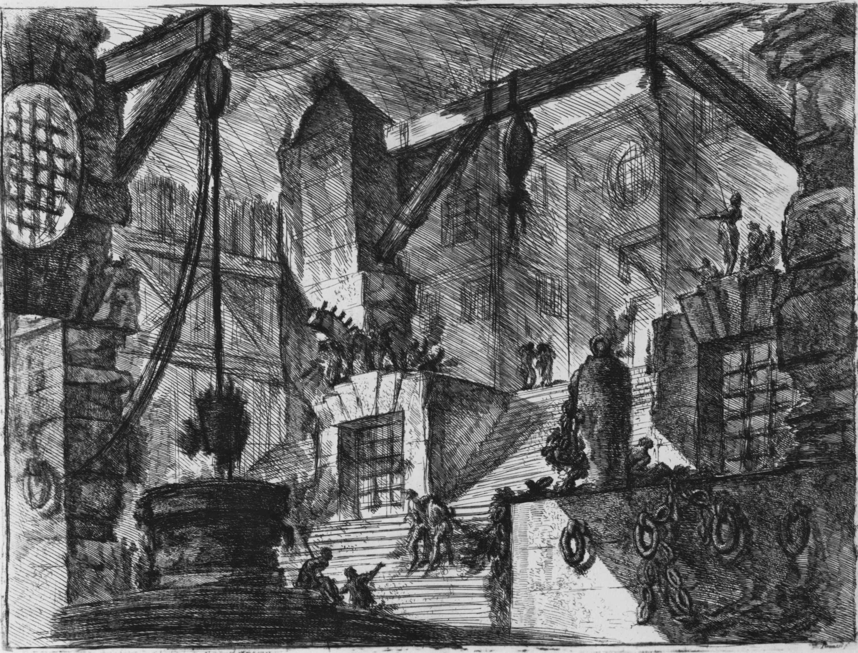 (High resolution) Piranesi, Giovanni Battista: Carceri d' invenzione (Erfundene Kerker), Blatt XIII, erste Fassung