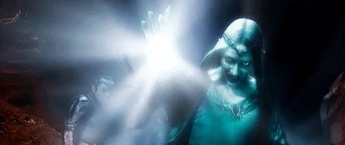 Galadriel being an absolute badass in the BOTFA, fighting Sauron