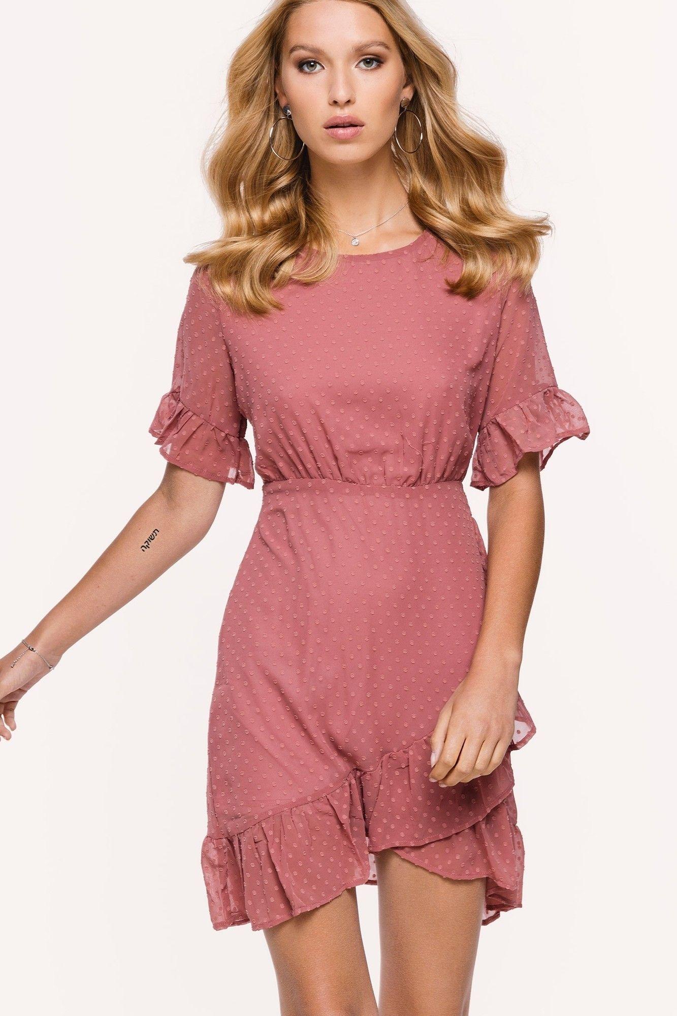 f24aa4b04c48b8 Loavies oudroze jurk