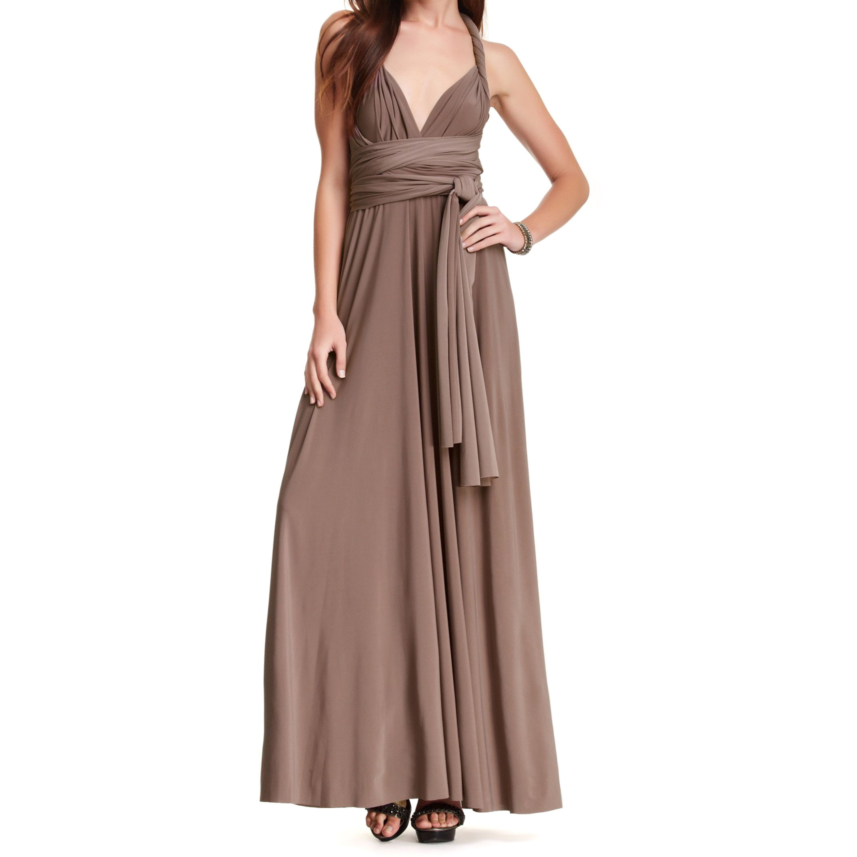 Womenus long maxi dress convertible wrap cocktail gown bridesmaid