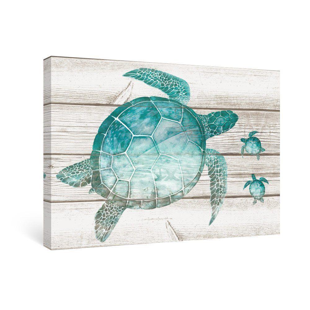 Amazon Com Sumgar Wall Art For Bathroom Green Sea Turtle Wall