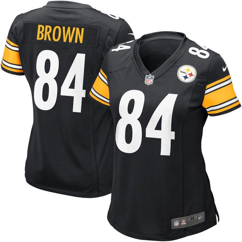 23f48cfb4 Antonio Brown Pittsburgh Steelers Nike Women s Game Jersey - Black ...