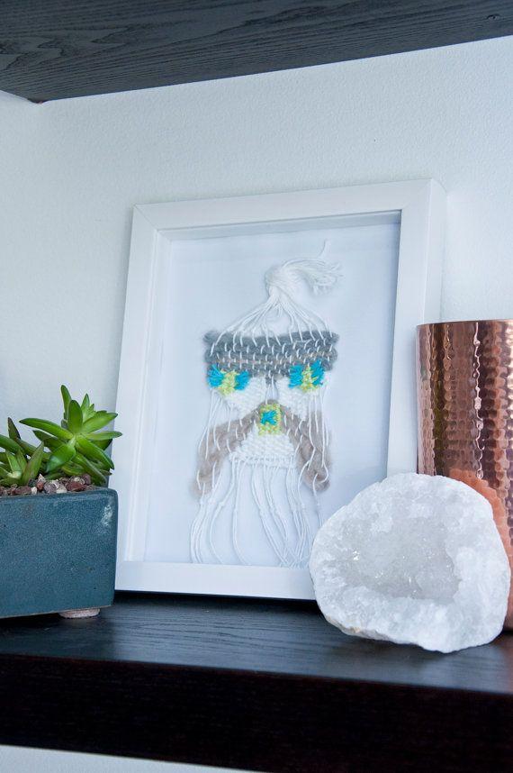 Articles similaires à formes en vrac encadré tissé tapisserie murale tissage fibre textile art home decor tissé à la main sous 75 texture art abstrait sur