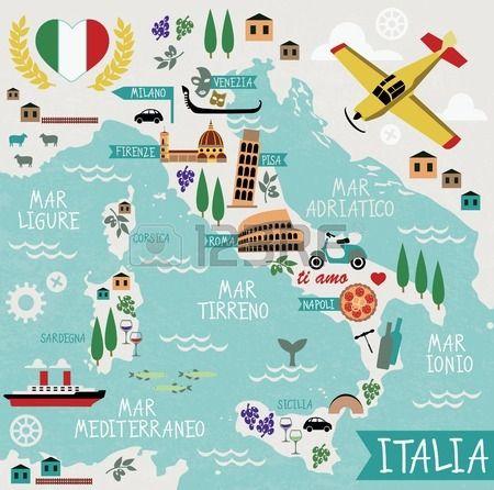 Cartoon Map Of Italy Royalty Free Cliparts, Vectors, And Stock ...