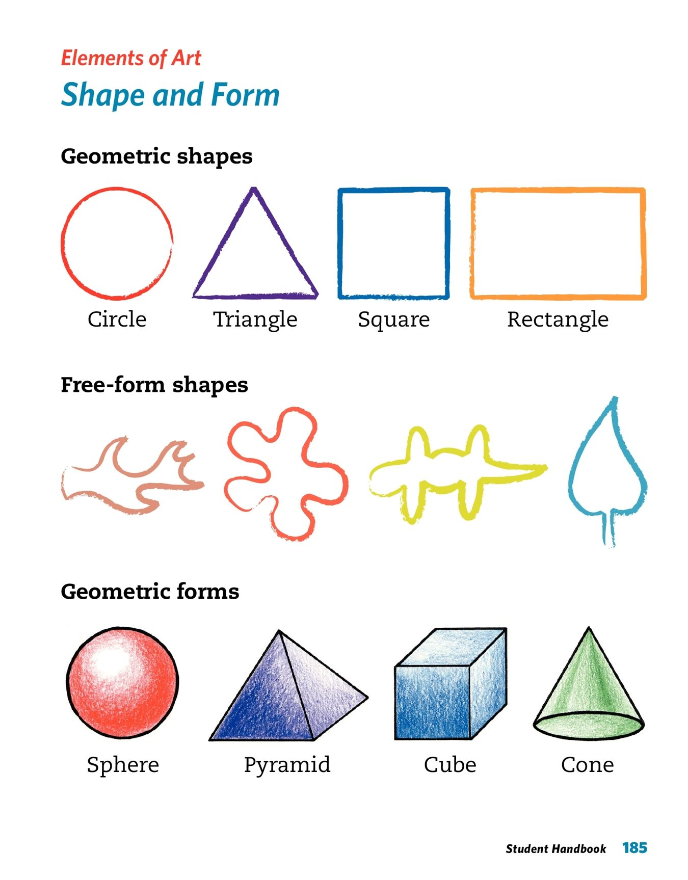 Elements Of Art Line Horizontal Vertical Diagonal Curved
