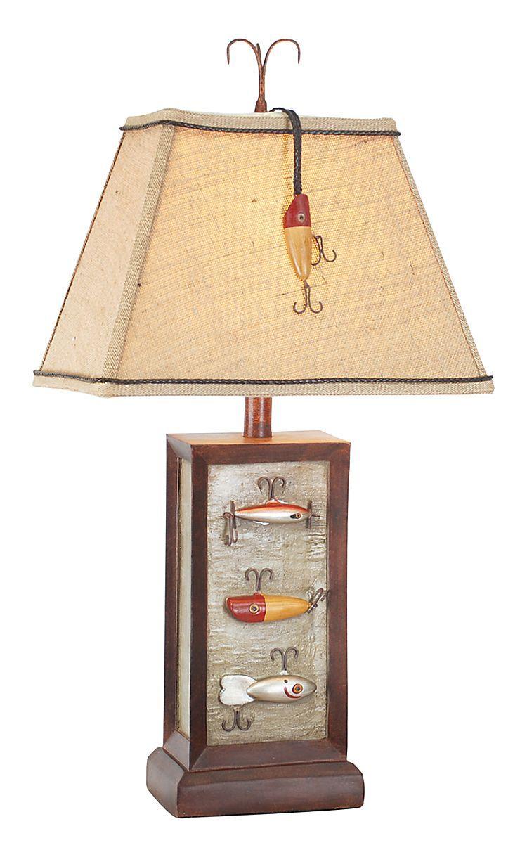 Fishing Lure Table Lamp Bass Pro Shops Fishing Room Decor Fishing Room Lamp