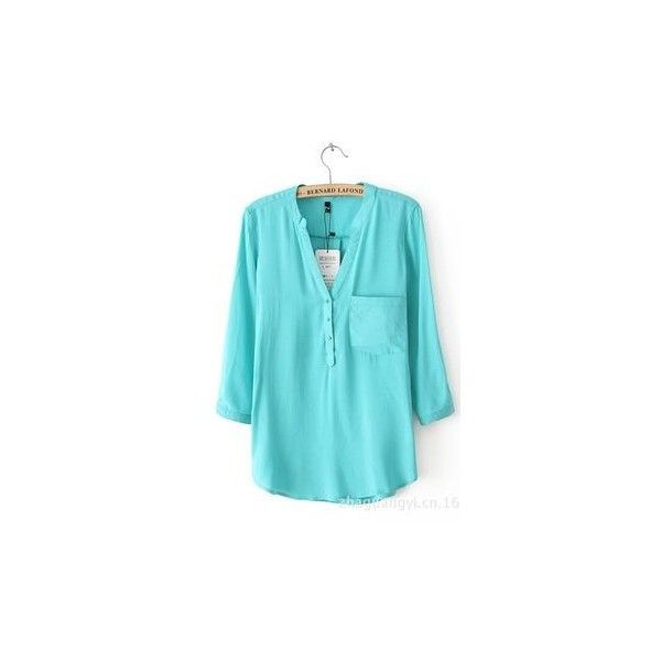 Lacedot Blouse via Polyvore featuring tops, blouses, blue top and blue blouse