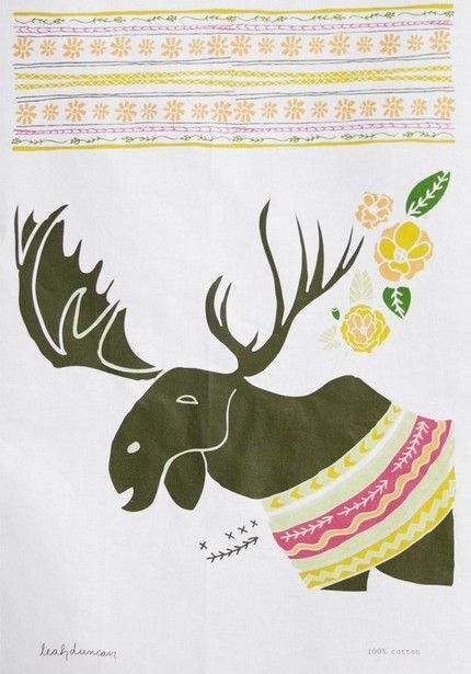 Moose Tea Towel Mooses Have Always Been Special Animals To My Family Tea Towels Moose Decor Moose