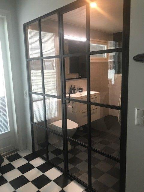 Room Divider With Steel Framed Glass Doors Wall Up Steel Framed
