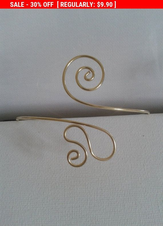 Free shipping!!!  Upper Arm bracelet arm cuffvalentines day gift hand  made  brass copper wireadjustable made to order! upper arm band by energywire from Ecommmax. Find it now at http://ift.tt/2lgaR8e!