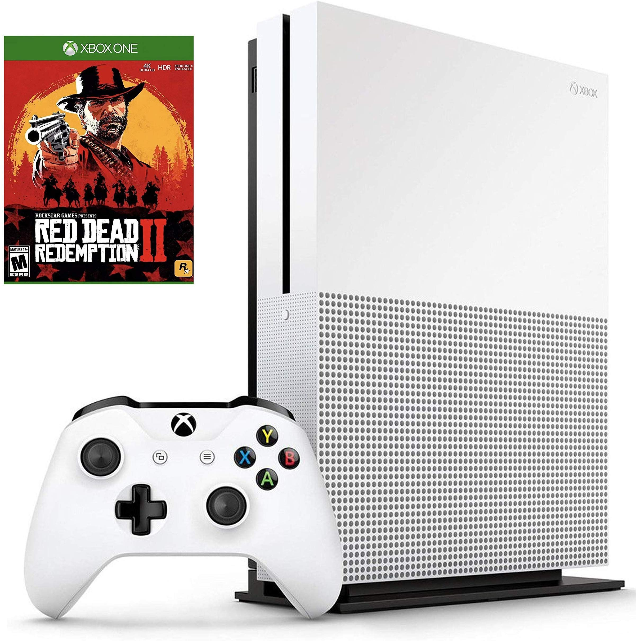 Amazon com: Microsoft Xbox One S 1TB Red Dead Redemption 2