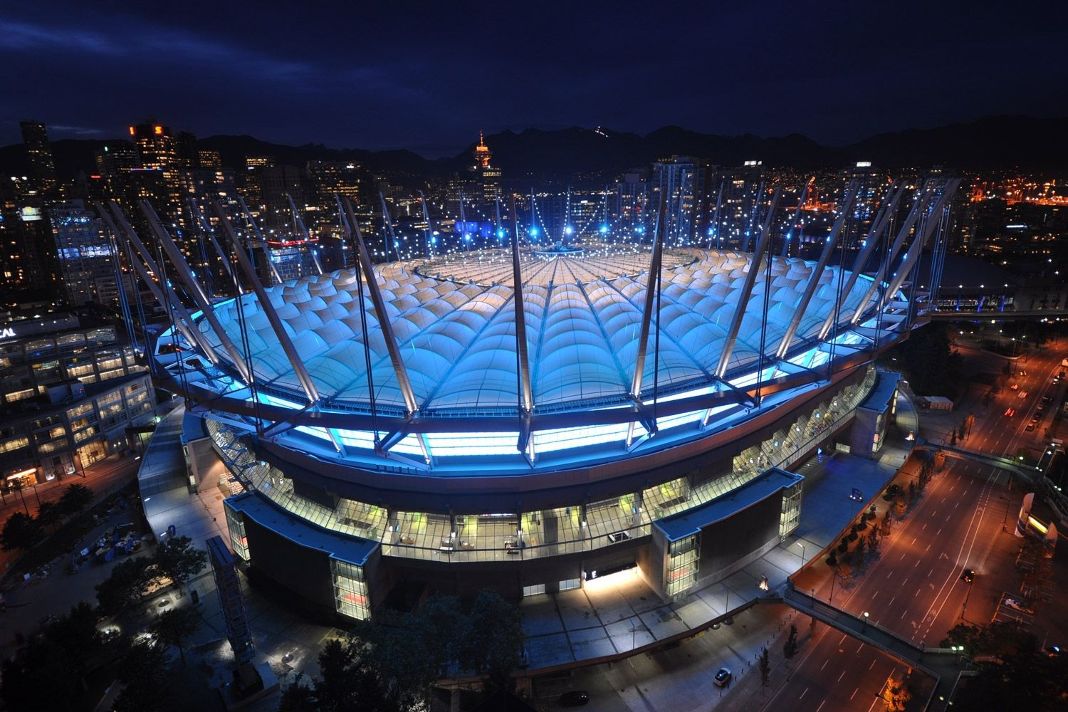 Bc place stadium roof vancouver british columbia bc place is the