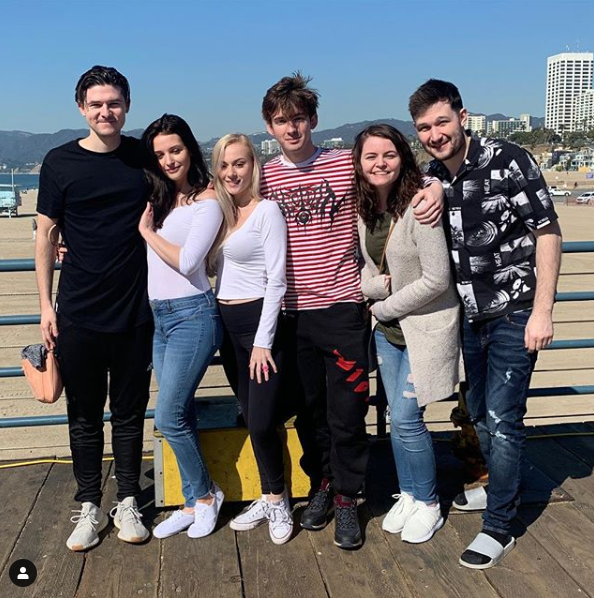 Albert and friends at LA but WHO IS THE BLONDE GIRL IS THAT HIS NEW