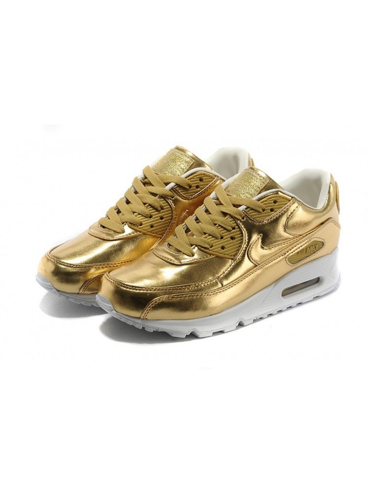 Tênis Nike Air Max 90 PRM TAPE Dourado | Nike air max