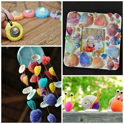 Adorable Seashell Craft Ideas For Kids Seashell Crafts Crafts