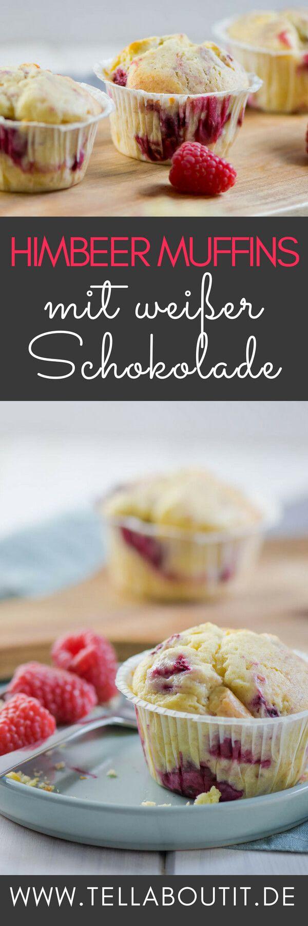 Weiße Schokolade Muffins mit Himbeeren #starbuckscake