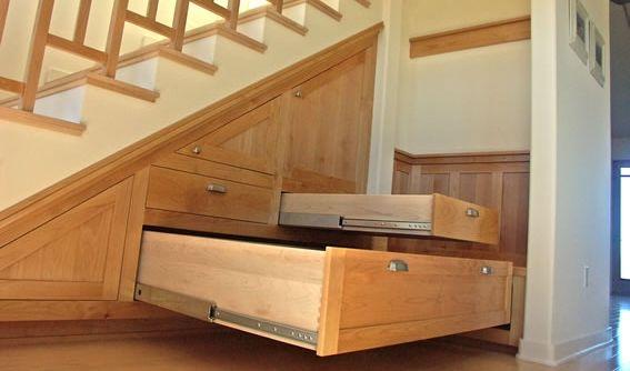 Kitchen U0026 Bath Works   San Luis Obispo, CA, United States. Custom Maple  Under Stair Storage
