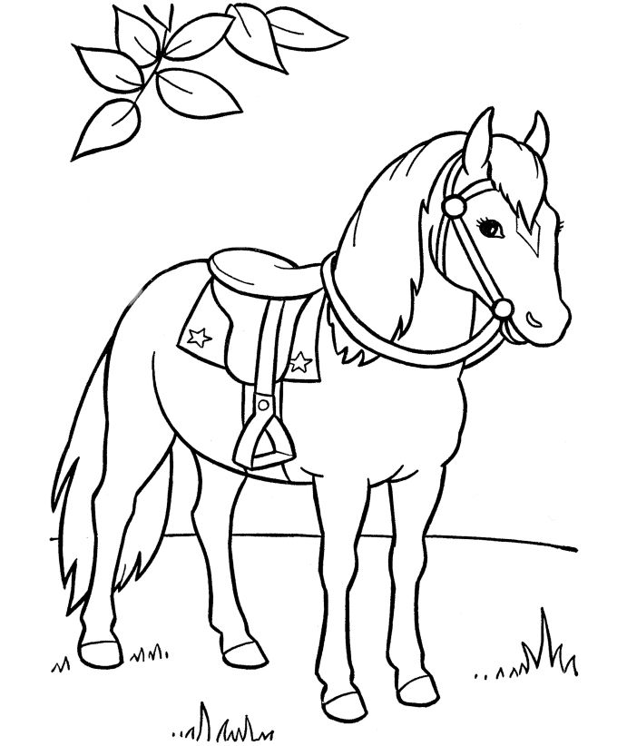 free horse printable coloring pages for preschool - Horse Coloring Page