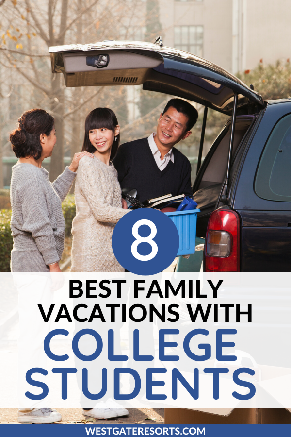 8 Great Family Vacations To Take With College Students Best Family Vacations Florida Vacation Spots Family Vacation
