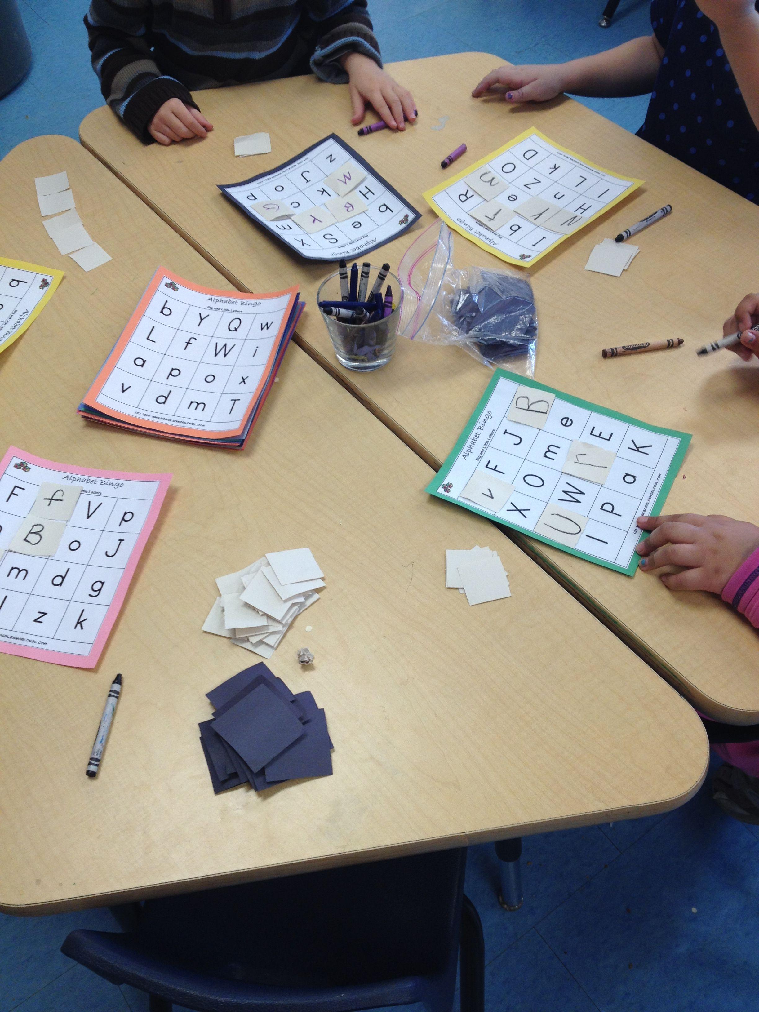 Literacy Learning Opportunity Alphabet Bingo Practicing
