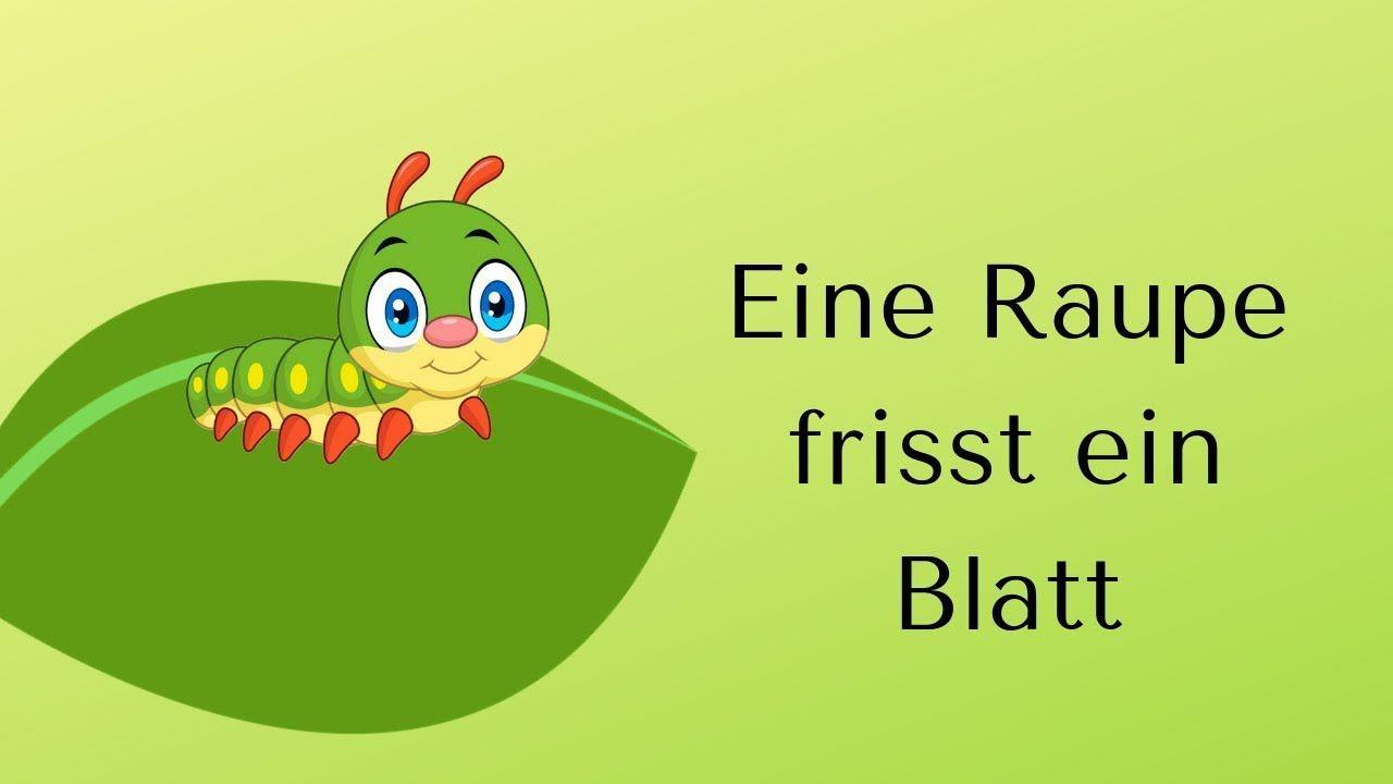 EINE RAUPE frisst ein Blatt (Krippe - Lied mit GESTEN