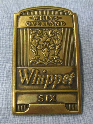 1931 Willys Overlander Whippet Six Car Radiator Badge Car Hood