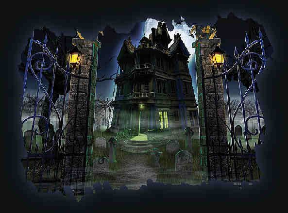haunted house painting images | Old Haunted House Painting