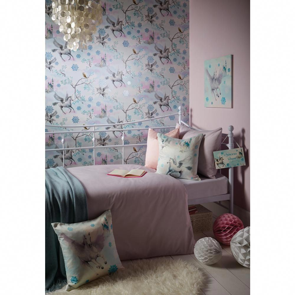 fairytale ice blue wallcovering decoracioncuartoideas decoracion rh pinterest com