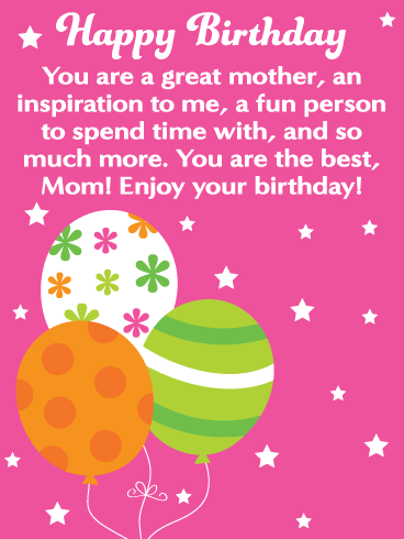Happy Birthday Card For Mother Balloons Can Make Anyones Day Special So What Are You Waiting Get This That Contains