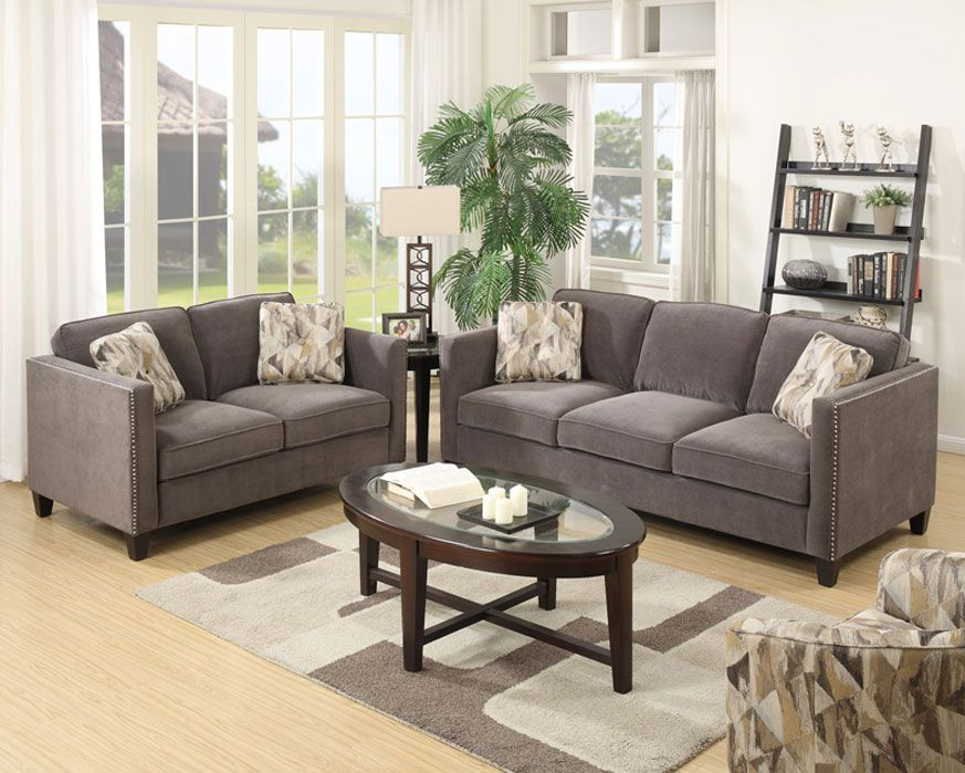 Perfect Sofa U0026 Loveseat Set U4286 23 SL Focus Charcoal, Furniture Factory Direct Part 8