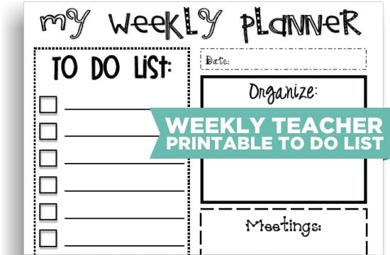 8 Cute Teacher Printable To Do Lists | Teacher