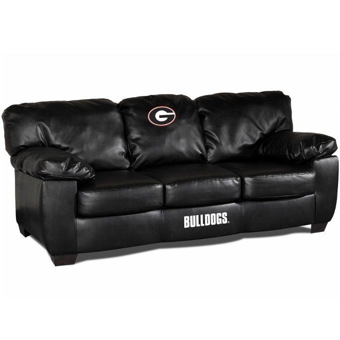 Georgia Bulldogs Classic Leather Sofa