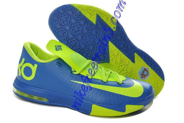 Nike Zoom KD VI Mens Sprite Royal Blue Volt Sports Shoes