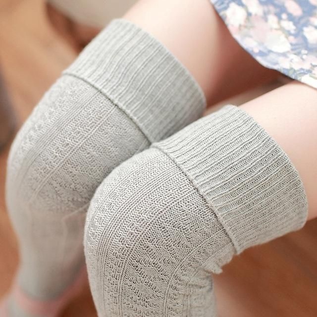 df031cf5208 thickness women high quality needle cotton knee high long high tube sexy  thigh stockings pantyhose hosiery winter autumn