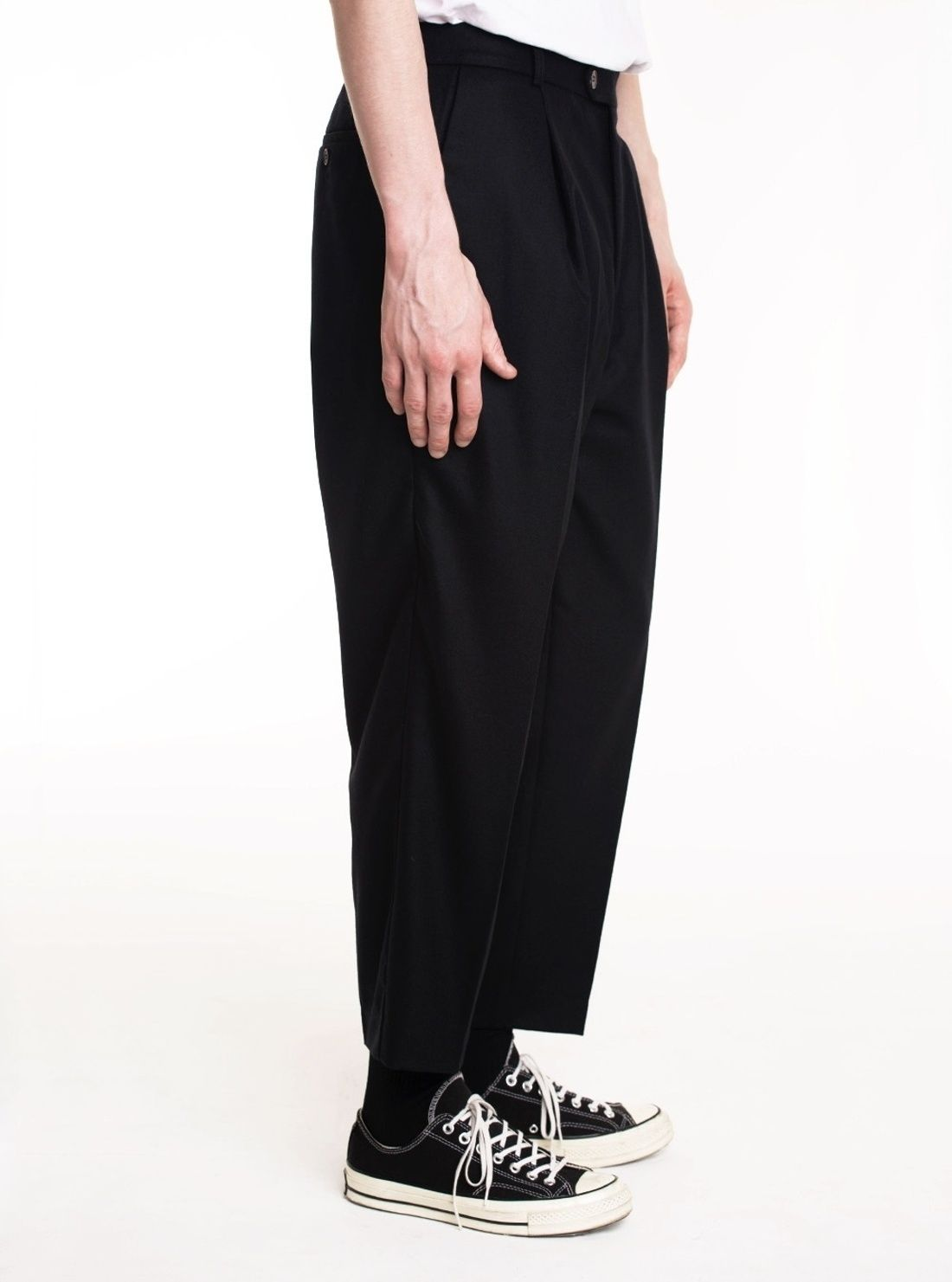 Lownn Neo Flannel Black Wide Leg Pant Size 28 $250 - Grailed
