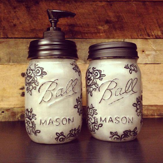 Love these diy silver mason jar soap dispenser and storage jar set love these diy silver mason jar soap dispenser and storage jar set beautiful design that solutioingenieria Images
