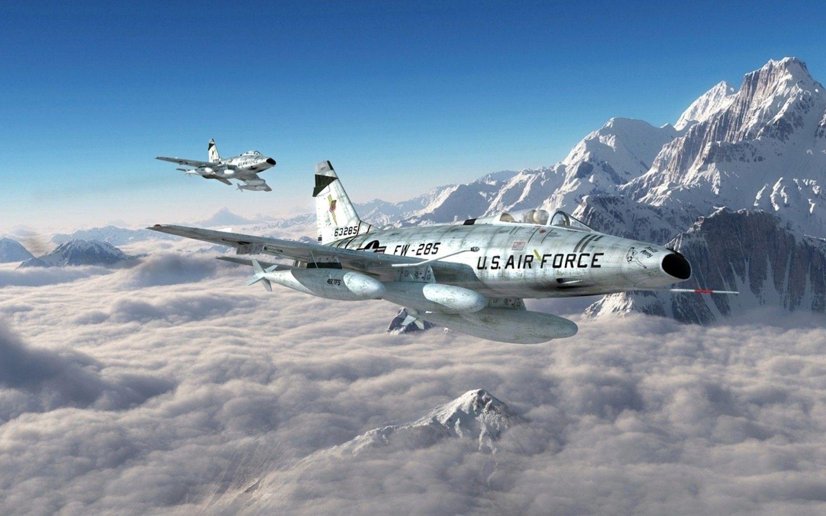 North American F100 Super Sabre | Обои картинки фото north american, f-100, super sabre