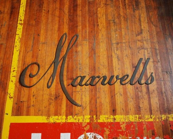 Brass Sign Lettering, Maxwells Industrial Signage