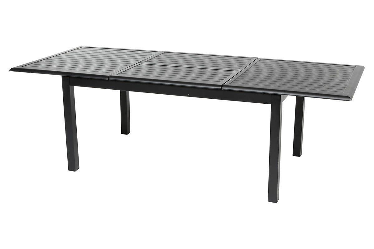 Table extensible Azua Aluminium Noir 10 places - Aluminium ...