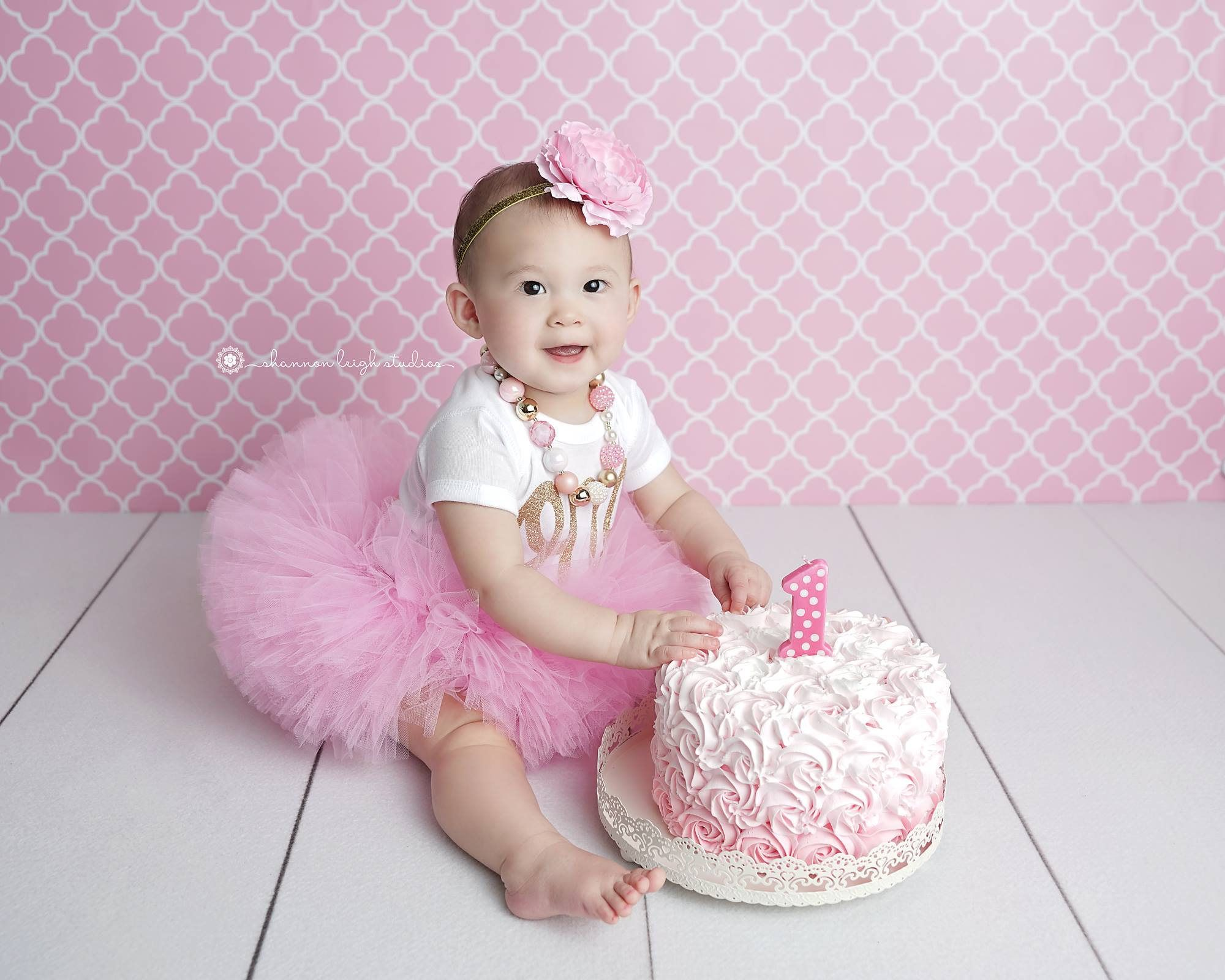 FIRST BIRTHDAY OUTFIT Girl Cake Smash Outfit Birthday Pink And Gold Tutu Set 1st By LilPinkGoose