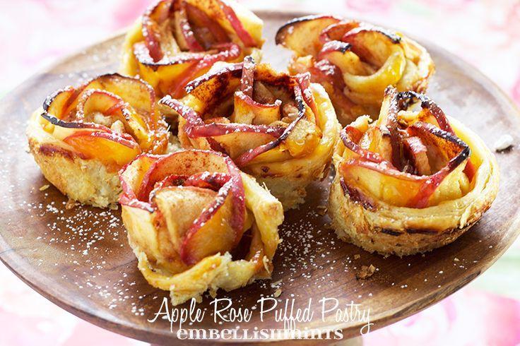 Apfel Rosen Blätterteig - #Apfel #Blätterteig #Rosen #blätterteigrosenmitapfel