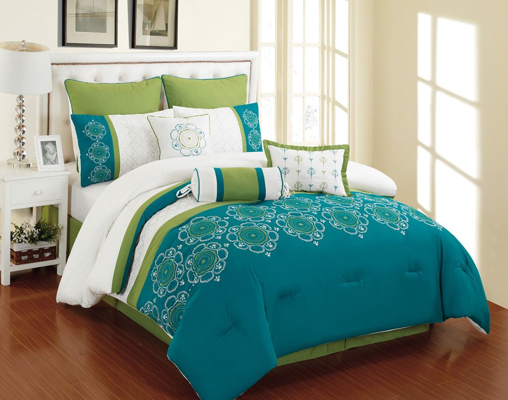 sheet from bed duvet item green luxury queen bedding set king cover size garden in sets quilt ostrich linen animal cotton home comforter cartoon