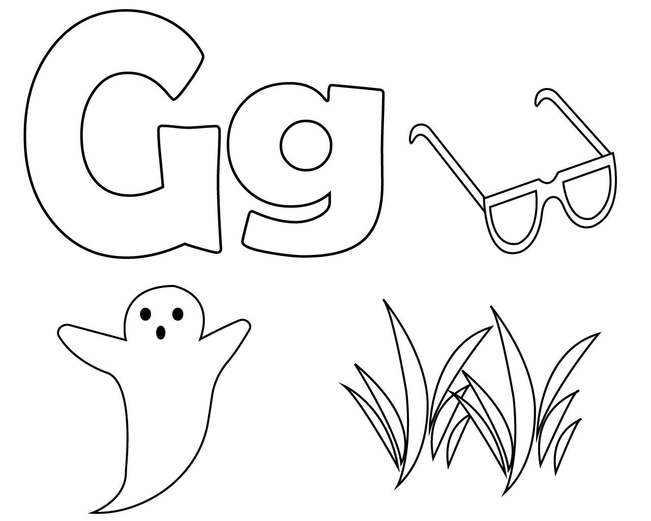 Letter G Coloring Pages Preschool Alphabet Coloring Pages