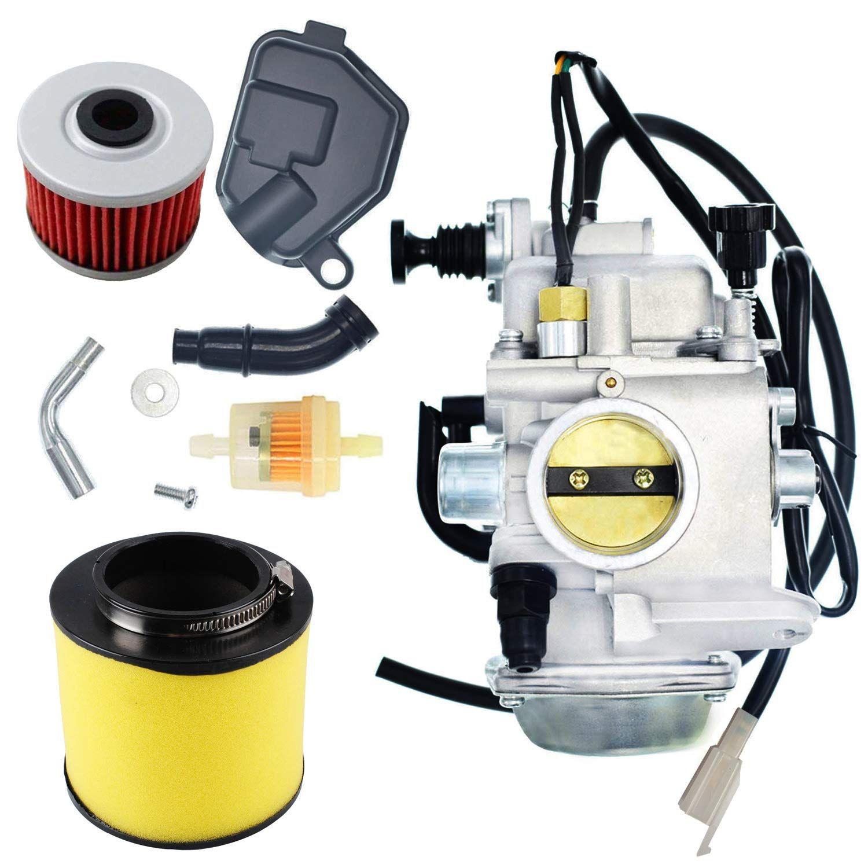 New TRX350 Carburetor Oil Filterw/Air Filter For Honda