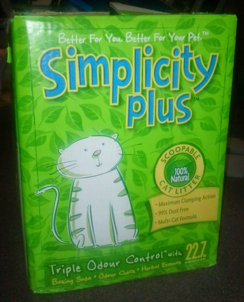 Simplicity Plus Cat Litter Now at Costco, 7.79 for 50
