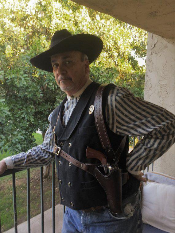 Doc Holliday Tombstone shoulder holster in dark brown Cowboy