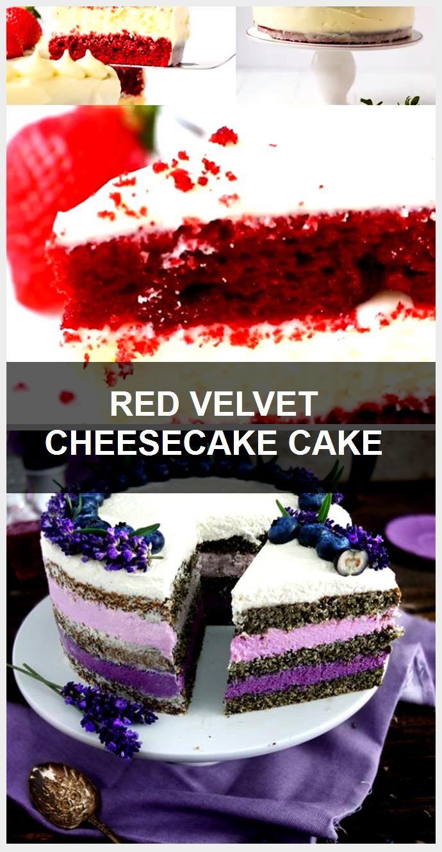 RED VELVET CHEESECAKE CAKE #redvelvetcheesecake