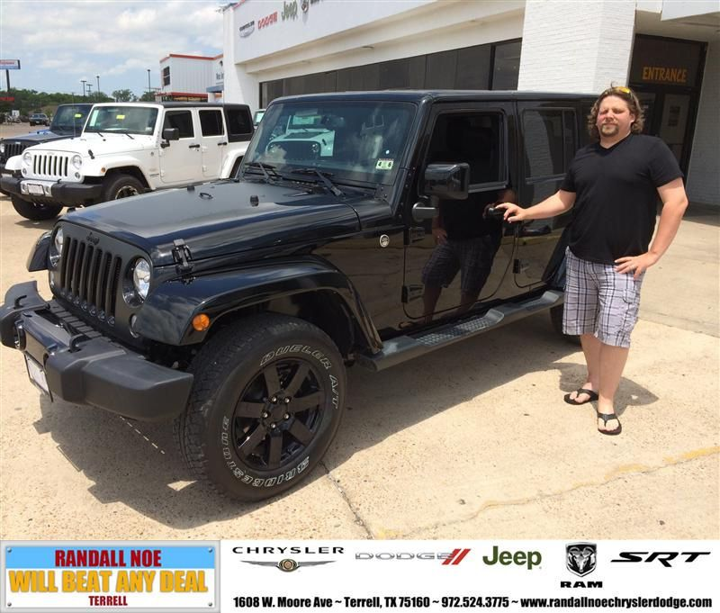 Congratulations To Brandon Fugate On Your Jeep Wrangler