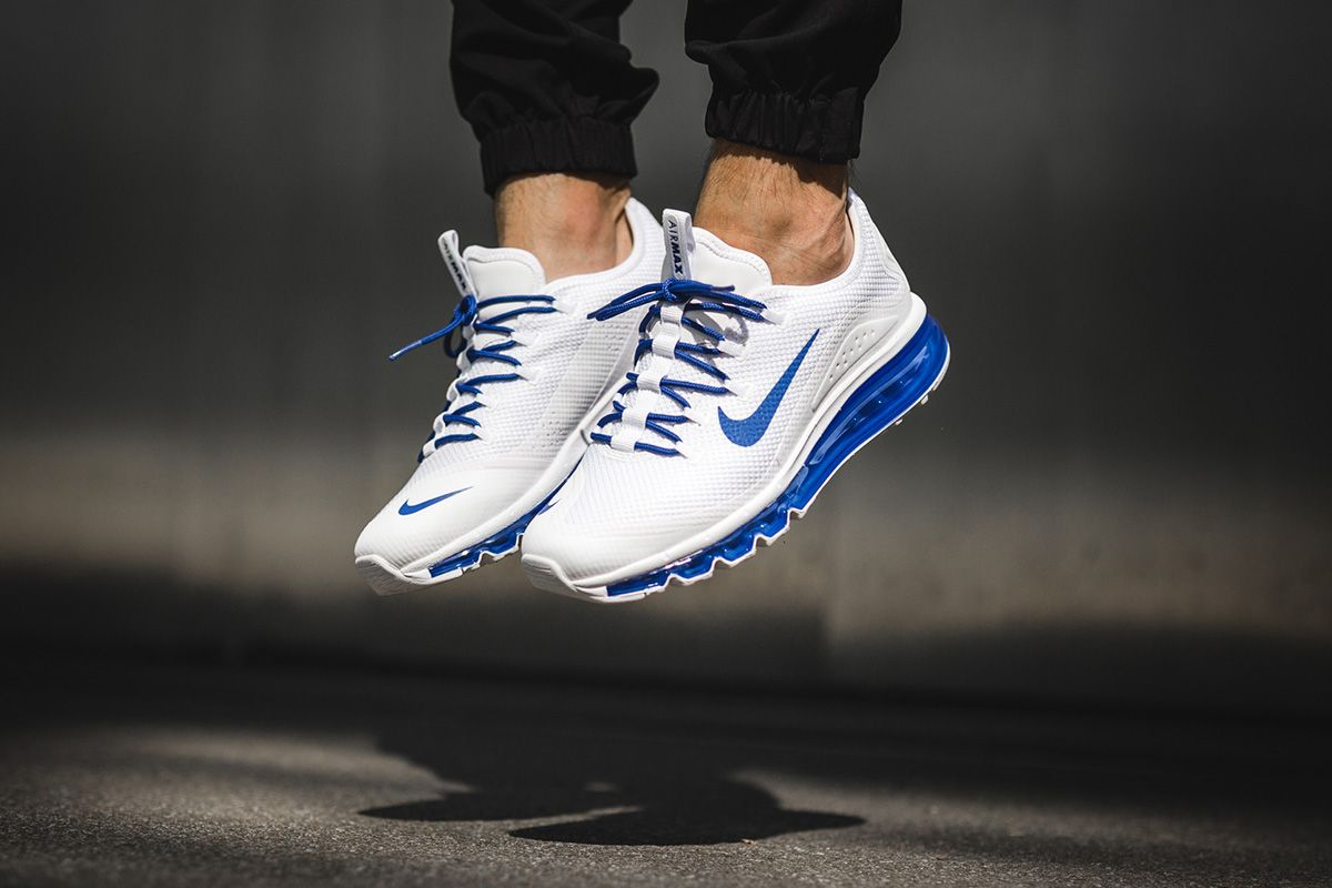 competitive price a8949 dbe62 On-Foot: Nike Air Max More 'White/Game Royal' - EU Kicks: Sneaker Magazine